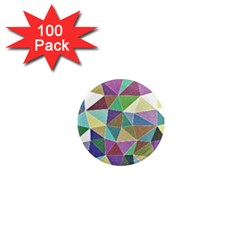 Colorful Triangles, pencil drawing art 1  Mini Magnets (100 pack)