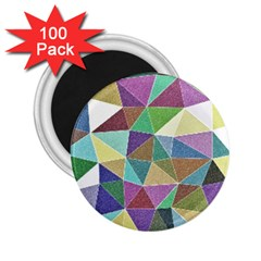 Colorful Triangles, pencil drawing art 2.25  Magnets (100 pack)