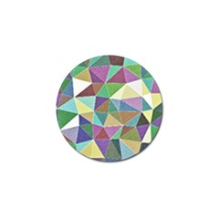 Colorful Triangles, pencil drawing art Golf Ball Marker (10 pack)