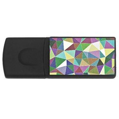 Colorful Triangles, pencil drawing art USB Flash Drive Rectangular (2 GB)