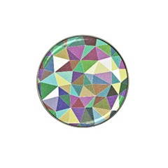 Colorful Triangles, pencil drawing art Hat Clip Ball Marker (10 pack)