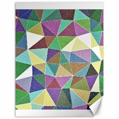 Colorful Triangles, pencil drawing art Canvas 18  x 24