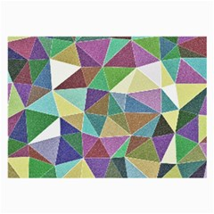 Colorful Triangles, pencil drawing art Large Glasses Cloth (2-Side)