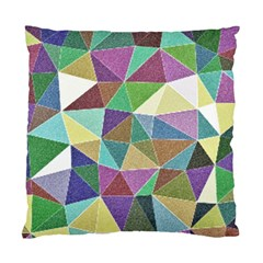 Colorful Triangles, pencil drawing art Standard Cushion Case (Two Sides)