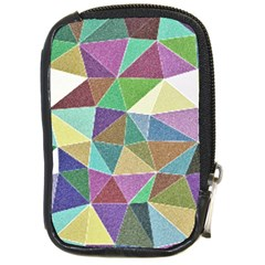 Colorful Triangles, pencil drawing art Compact Camera Cases