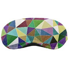 Colorful Triangles, pencil drawing art Sleeping Masks