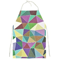 Colorful Triangles, pencil drawing art Full Print Aprons
