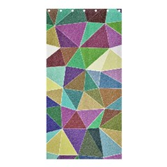 Colorful Triangles, pencil drawing art Shower Curtain 36  x 72  (Stall)