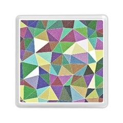Colorful Triangles, pencil drawing art Memory Card Reader (Square)