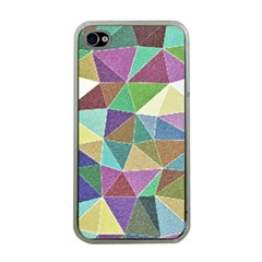 Colorful Triangles, pencil drawing art Apple iPhone 4 Case (Clear)