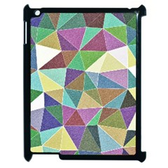 Colorful Triangles, pencil drawing art Apple iPad 2 Case (Black)