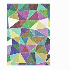 Colorful Triangles, pencil drawing art Large Garden Flag (Two Sides)
