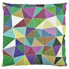 Colorful Triangles, pencil drawing art Large Cushion Case (One Side)