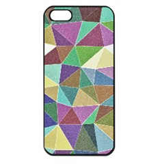 Colorful Triangles, pencil drawing art Apple iPhone 5 Seamless Case (Black)
