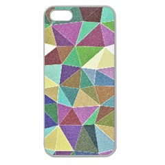 Colorful Triangles, pencil drawing art Apple Seamless iPhone 5 Case (Clear)