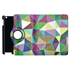 Colorful Triangles, pencil drawing art Apple iPad 2 Flip 360 Case