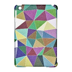 Colorful Triangles, pencil drawing art Apple iPad Mini Hardshell Case (Compatible with Smart Cover)