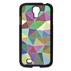 Colorful Triangles, pencil drawing art Samsung Galaxy S4 I9500/ I9505 Case (Black)