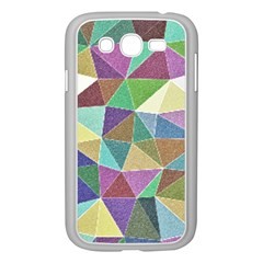 Colorful Triangles, Pencil Drawing Art Samsung Galaxy Grand Duos I9082 Case (white)