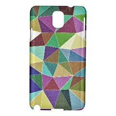 Colorful Triangles, pencil drawing art Samsung Galaxy Note 3 N9005 Hardshell Case
