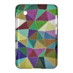 Colorful Triangles, pencil drawing art Samsung Galaxy Tab 2 (7 ) P3100 Hardshell Case