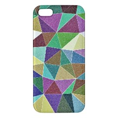 Colorful Triangles, pencil drawing art iPhone 5S/ SE Premium Hardshell Case