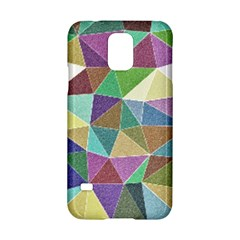Colorful Triangles, pencil drawing art Samsung Galaxy S5 Hardshell Case