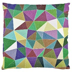 Colorful Triangles, pencil drawing art Standard Flano Cushion Case (One Side)