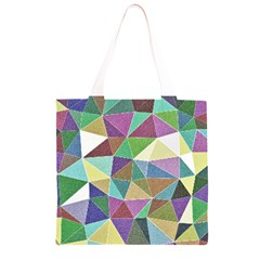 Colorful Triangles, pencil drawing art Grocery Light Tote Bag