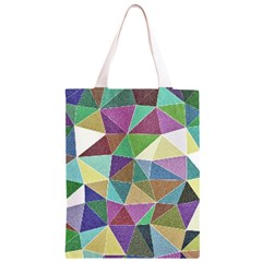Colorful Triangles, pencil drawing art Classic Light Tote Bag