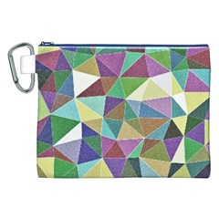 Colorful Triangles, pencil drawing art Canvas Cosmetic Bag (XXL)