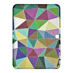 Colorful Triangles, pencil drawing art Samsung Galaxy Tab 4 (10.1 ) Hardshell Case