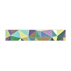 Colorful Triangles, pencil drawing art Flano Scarf (Mini)