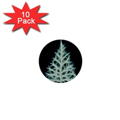 Christmas fir, green and black color 1  Mini Buttons (10 pack)