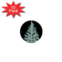 Christmas fir, green and black color 1  Mini Magnet (10 pack)