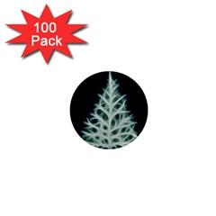 Christmas fir, green and black color 1  Mini Magnets (100 pack)