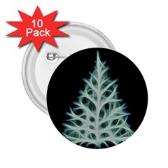 Christmas fir, green and black color 2.25  Buttons (10 pack)