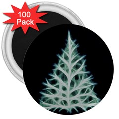 Christmas fir, green and black color 3  Magnets (100 pack)