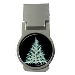 Christmas fir, green and black color Money Clips (Round)