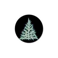 Christmas fir, green and black color Golf Ball Marker