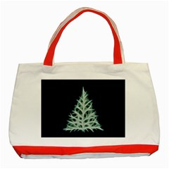 Christmas fir, green and black color Classic Tote Bag (Red)
