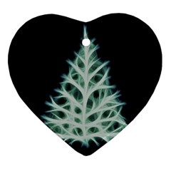 Christmas fir, green and black color Heart Ornament (2 Sides)