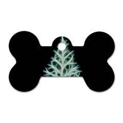 Christmas fir, green and black color Dog Tag Bone (Two Sides)