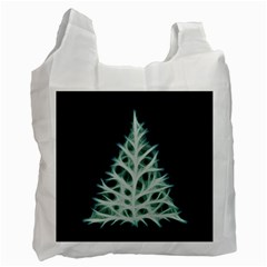 Christmas fir, green and black color Recycle Bag (Two Side)