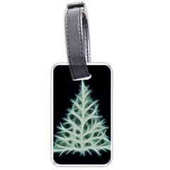 Christmas fir, green and black color Luggage Tags (Two Sides)