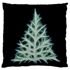 Christmas fir, green and black color Large Cushion Case (Two Sides)