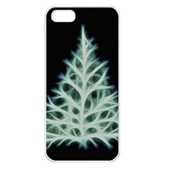 Christmas fir, green and black color Apple iPhone 5 Seamless Case (White)