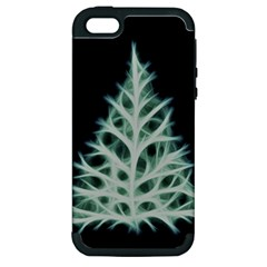 Christmas fir, green and black color Apple iPhone 5 Hardshell Case (PC+Silicone)
