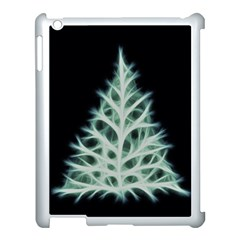 Christmas fir, green and black color Apple iPad 3/4 Case (White)