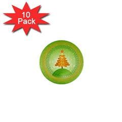 Beautiful Christmas Tree Design 1  Mini Buttons (10 pack)